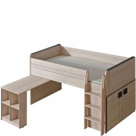 Łóżko Gumi z biurkiem G15 (dąb santan/popiel)- Dolmar