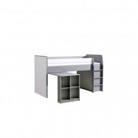 Łóżko Gumi z biurkiem G15 (biały brylantowy/antracyt)- Dolmar