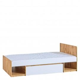Łóżko Arca 90 x 200 AR9 (dąb wotan/biel arktyczna)- Dolmar