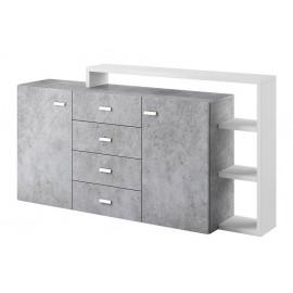 Komoda Bota 27 (biały - colorado beton)- Helvetia