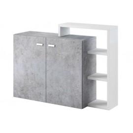 Komoda Bota 28 (biały - colorado beton)- Helvetia