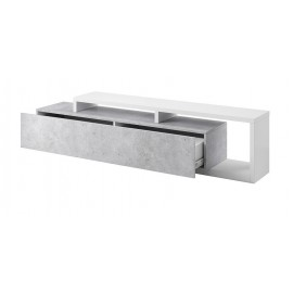Komoda TV Bota 40 (biały - colorado beton)- helvetia