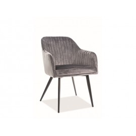 Krzesło Elina Velvet (szary) - Signal