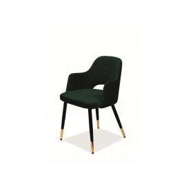 Krzesło Franco Velvet (zielony)- Signal