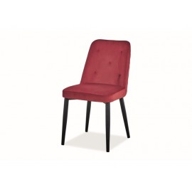 Krzesło Duran Velvet (bordowy)- Signal