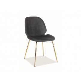 Krzesło Adrien Velvet (czarny)- Signal