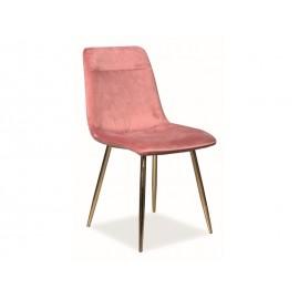 Krzesło Eros Velvet (antyczny róż)- Signal