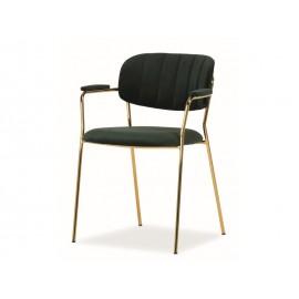 Krzesło Carlo II Velvet (zielony) - Signal