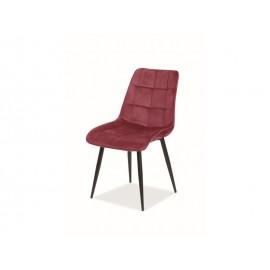 Krzesło Chic Velvet (bordowy)- Signal