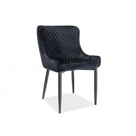 Krzesło Colin B Velvet (czarny)- Signal