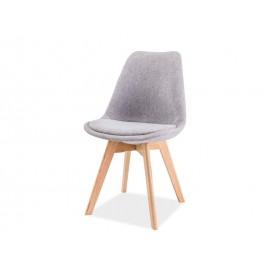 Krzesło Dior dąb (jasny szary)- Signal