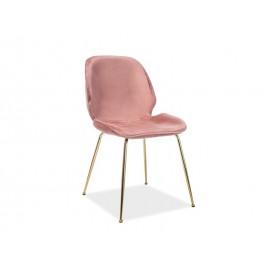 Krzesło Adrien Velvet (antyczny róż)- Signal
