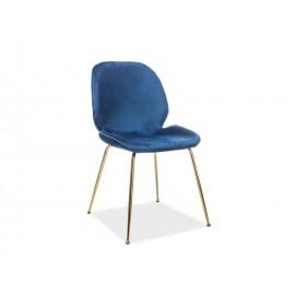 Krzesło Adrien Velvet (granatowy)- Signal