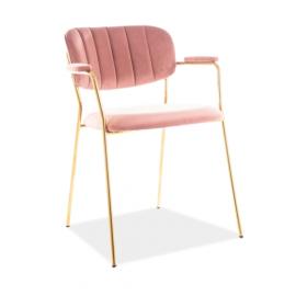Krzesło Carlo II Velvet (antyczny róż) - Signal