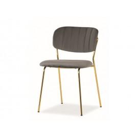 Krzesło Carlo Velvet (szary)- Signal