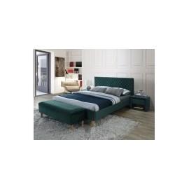 Łóżko Azurro Velvet 160 (zielony) -Signal