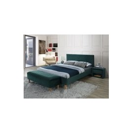 Łóżko Azurro Velvet 180 (zielony) -Signal