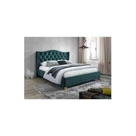 Łóżko Aspen Velvet (zielony) 160- Signal