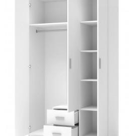 Szafa Lima S-3 (biały z lustrem)- Halmar