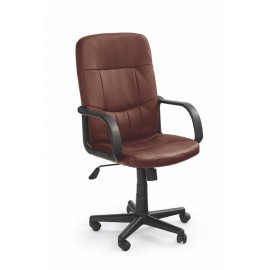 Fotel Obrotowy Denzel (ciemny brąz)- Halmar