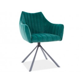 Krzesło Agava Velvet (zielony)- Signal