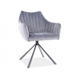 Krzesło Agava Velvet (szary)- Signal