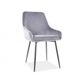 Krzesło Albi Velvet (szary)- Signal
