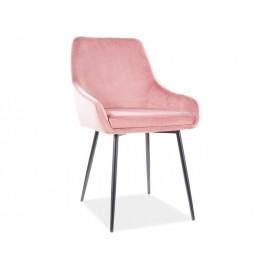 Krzesło Albi Velvet (antyczny róż)- Signal
