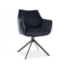 Krzesło Azalia Velvet (czarny)- Signal