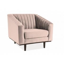 Fotel Asprey Velvet 1 (antyczny róż)- Signal