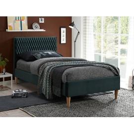 Łóżko Azurro Velvet (zielony) 90- Signal