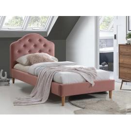 Łóżko Chloe Velvet (antyczny różowy) 90- Signal