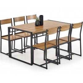 Zestaw BOLIVAR stół + 6 krzeseł- Halmar