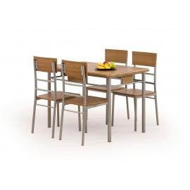 NATANIEL zestaw stół + 4 krzesła- Halmar