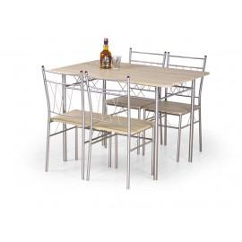 Faust zestaw stół + 4 krzesła- Halmar