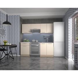 Zestaw kuchenny Marija 200 (wanilia/dąb sonoma)- Halmar