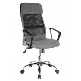 Fotel Obrotowy QZY-2502 (szary)- Furnitex
