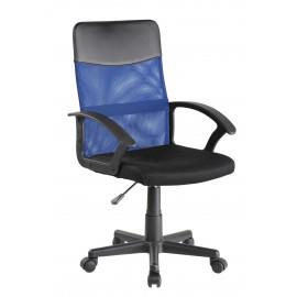 Fotel Obrotowy QZY-68 (niebiesko/czarny)- Furnitex