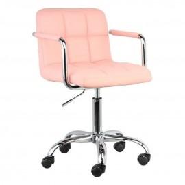 Fotel Obrotowy N-13 (jasny róż)- Furnitex