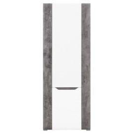 Regał L/P BRANDO B-6 biały,beton,biały połysk -Bogfran