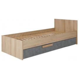 Łóżko 90 AYGO AG-12 buk piaskowy,peltro- Bogfran